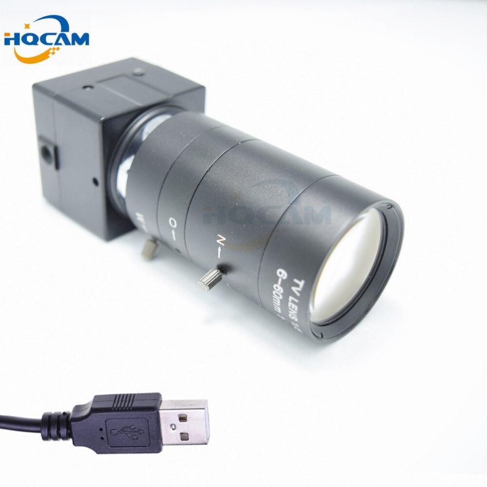 HQCAM 1080P 6 60mm Manual Varifocal Zoom Lens Mini USB Camera CMOS OV2710 video chamber Industrial