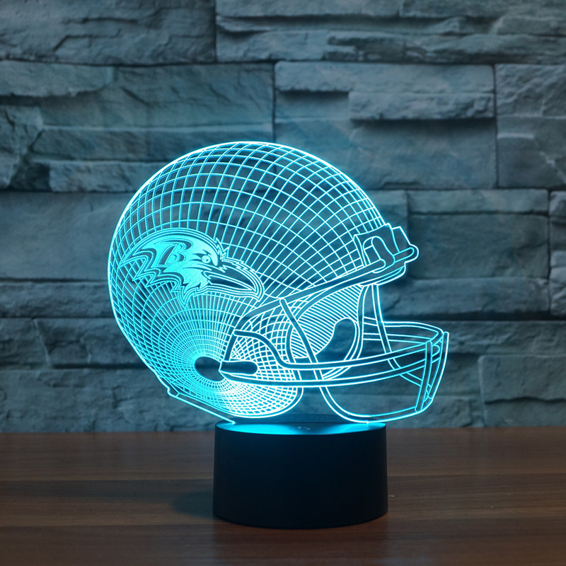 new football Ravens 3D Baltimore lights colorful touch LED gift lamp