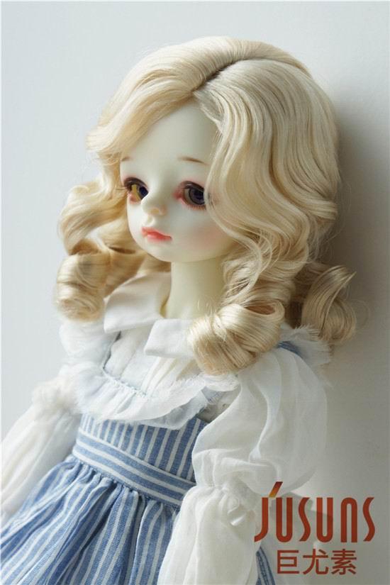 JD324 1/3 SD синтетический, мохеровый, для куклы парики 8-9 дюймов 21-23 см Шанхай Благородный Леди Ретро стиль волос