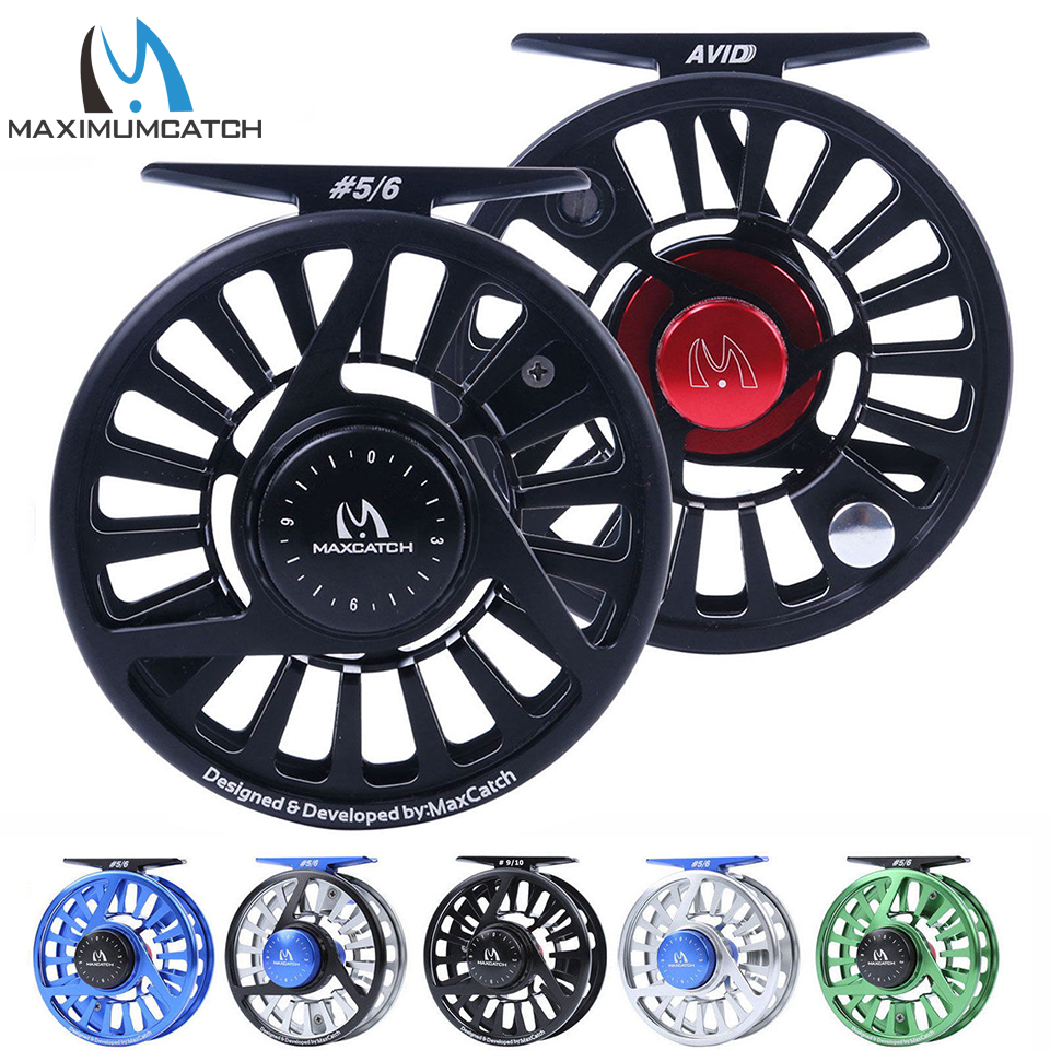 Maximumcatch Fly Fishing Reel 3/4/5/6/7 / 8WT CNC Mesin Aluminium Mikro Menyesuaikan Tarik Fly Reel
