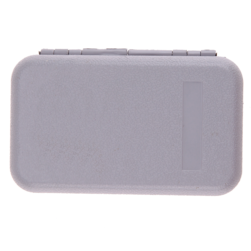 FSTE-ILURE Mini Portable Fishing Tackle Box Waterproof ABS Plastic Foam Fly Fishing Lure Bait Hook Tackle Storage Case