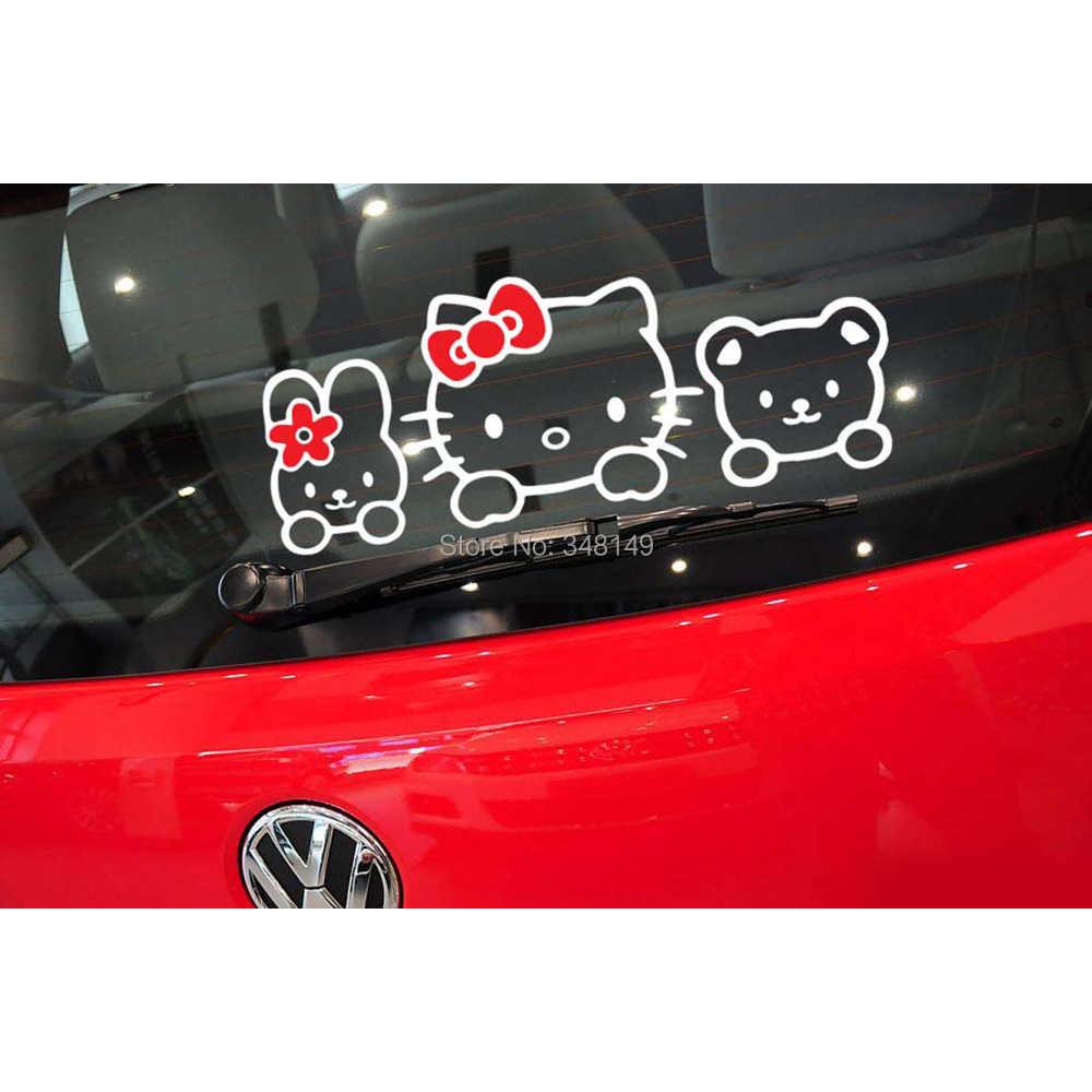 Aliauto 車アクセサリーハローキティ車のステッカー素敵な猫トヨタ、フォード、 Vw ホンダ現代起亜ラダゴルフポロ