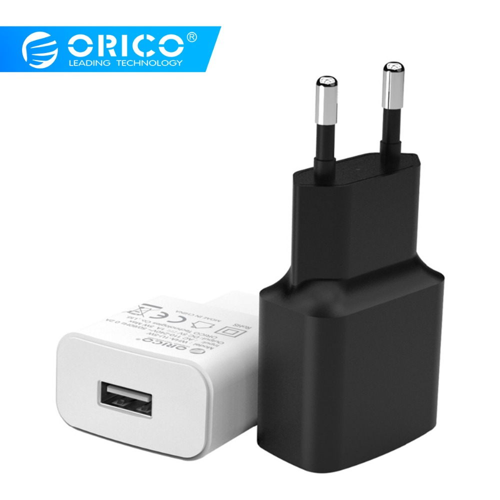ORICO 10W Universal USB Charger 5W Travel Wall Charger Adapter Smart Mobile Phone Charger for Phone Tablets 2 pcs/set electronics