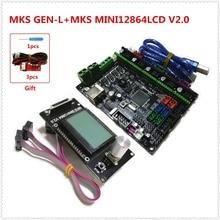 МКС GEN-L + МКС MINI12864LCD minipanel lcd12864 поддержка a4988 a4982 drv8825 tmc2100 lv8729 tmc2208 дешевые 3D принтер монтажный комплект
