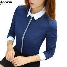 7dceebfc4b0 Темно Синий Блузки – Купить Темно Синий Блузки недорого из Китая на  AliExpress