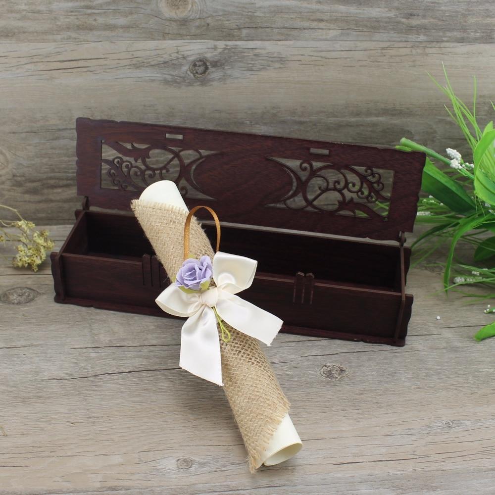 100 Pcs Laser Cut Wedding Invitation Card Elegant Custom Scroll