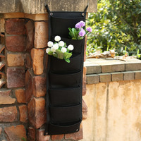 7 Pocket NEW Felt 1PC Thick 2mm Outdoor Vertical Gardening Flower Pots And Planter Hanging Pots