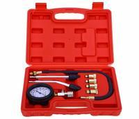 9 PCS Leakage Diagnostic Petrol Gas Engine Cylinder Compressor Gauge Meter Test Pressure Compression Tester