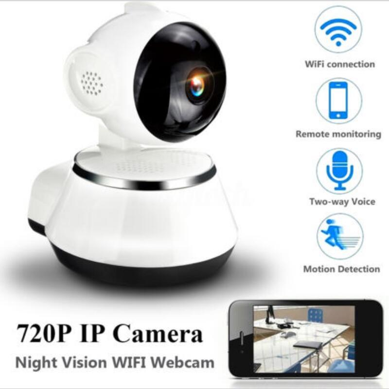Ip-Camera Wifi Wireless Support-Night-Vision Wide-Angle 720P HD Home-Security