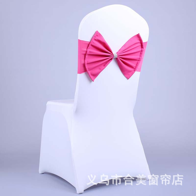 Chair Cover Bows 5pcs elastic spandex chair cover bows for wedding stretch chair