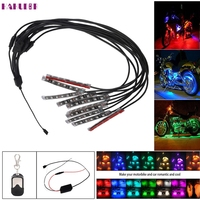 Auto Car Styling Led 10PCS RGB LED Car Motorcycle Chopper Frame Glow Lights Flexible Neon Strips