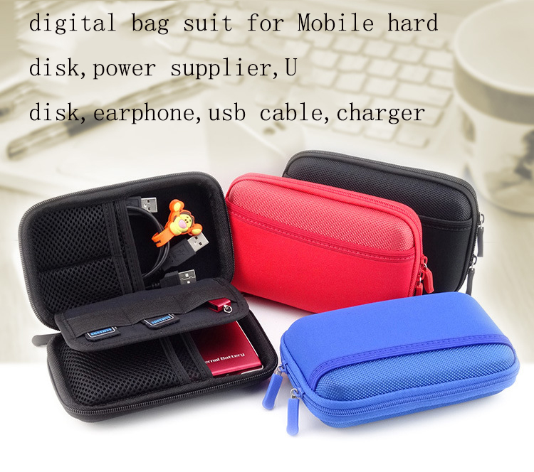 Cable Charger Hard Case USB Pouch Data Portable For Earphone Storage Bag Mini