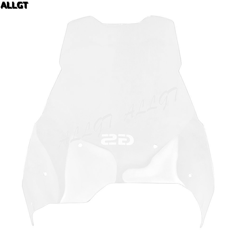 ALLGT Transparent Motorcycle Windshield Screen for BMW F650 F700 F800 GS 2008-2013 2014 2015 2016 motorcycle motorbikes wind deflectors windshield windscreen for 2008 2017 bmw f800gs f650gs f800 f650 gs 800gs 650gs smoke