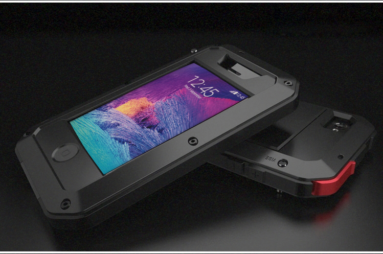 Metal alloy Element Weatherproof Shockproof Mobile Phone Cover Case For iPhone5 5sSE Gorilla Tempered Glass Cell Phone Bag Case
