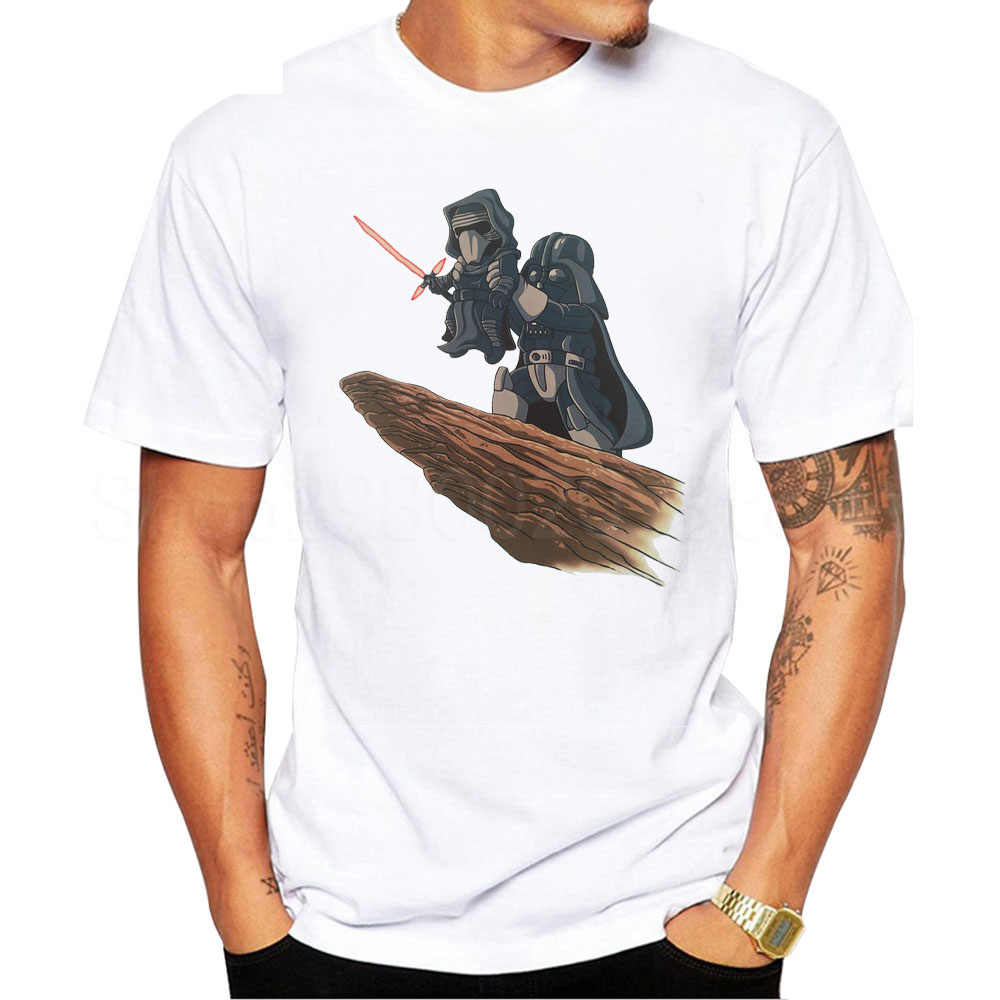 Camiseta a la Moda hombre star wars personalizada Camiseta El Darth King retro impreso cool tops de manga corta cuello redondo Camiseta casual tops