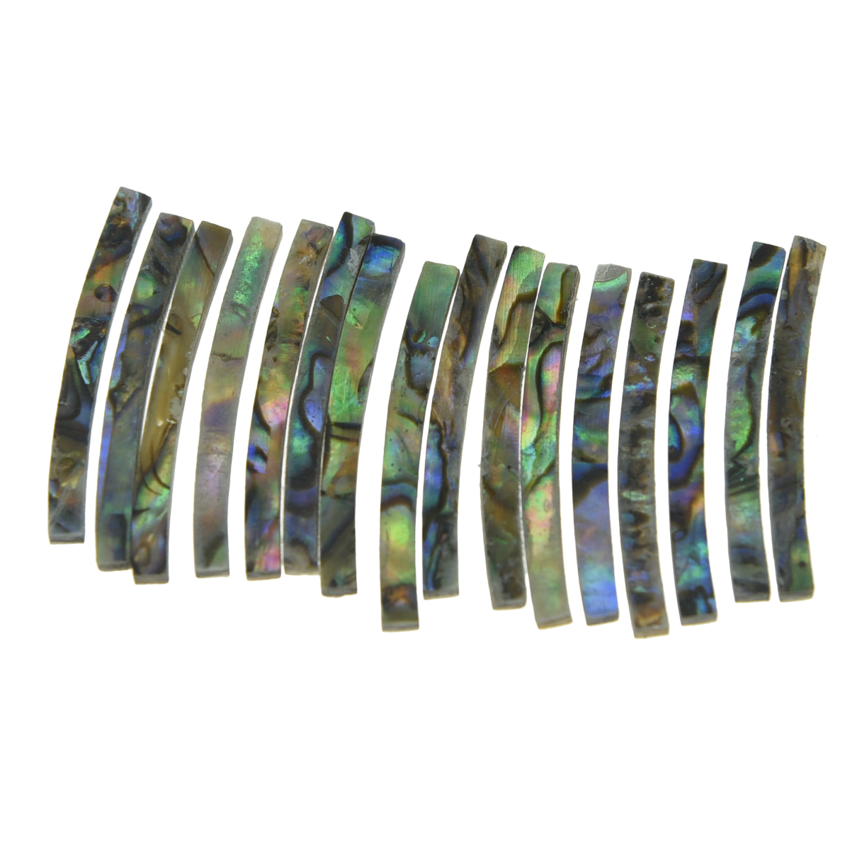 KAISH Guitar Rosette Paua Abalone Shell Curved Strips Guitar Sound Hole Inlay 2mm 3mm 4mm width