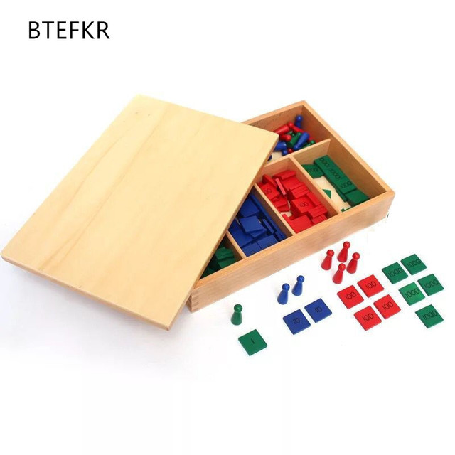 Montessori Stamp Game Math Toys For Early Childhood Education Preschool Training Kids Baby Gift