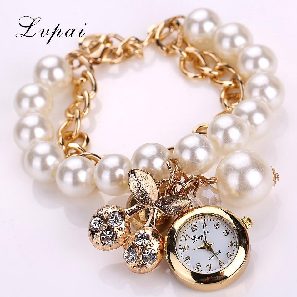 Lvpai Watch 2016 New Cherry Watches Women Electronic Style Dress Watches Pearl Luxury Female Design Clock Quartz Wrist Watches пуф dreambag круг cherry