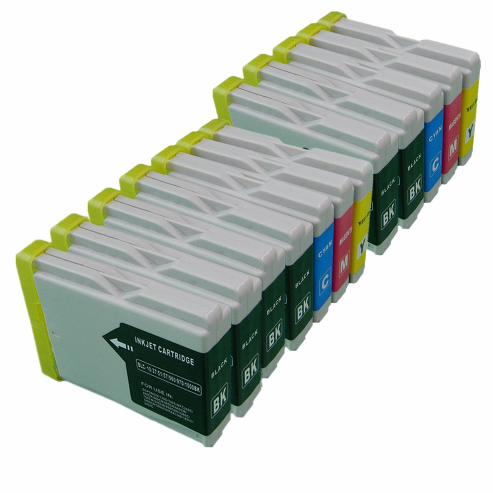 2Set +4Bk LC1000 LC-1000 LC 1000 Inkjet Ink Cartridges For Brother MFC-440CN MFC-460CN MFC-465CN MFC-480CN MFC-5460CN MFC-5860CN