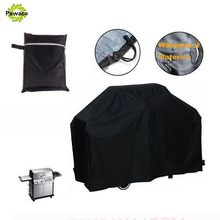 Newest Waterproof BBQ Cover Outdoor UV Protection Rain Barbecue Grill Protector For Gas Charcoal Electric Barbeque Grill Black