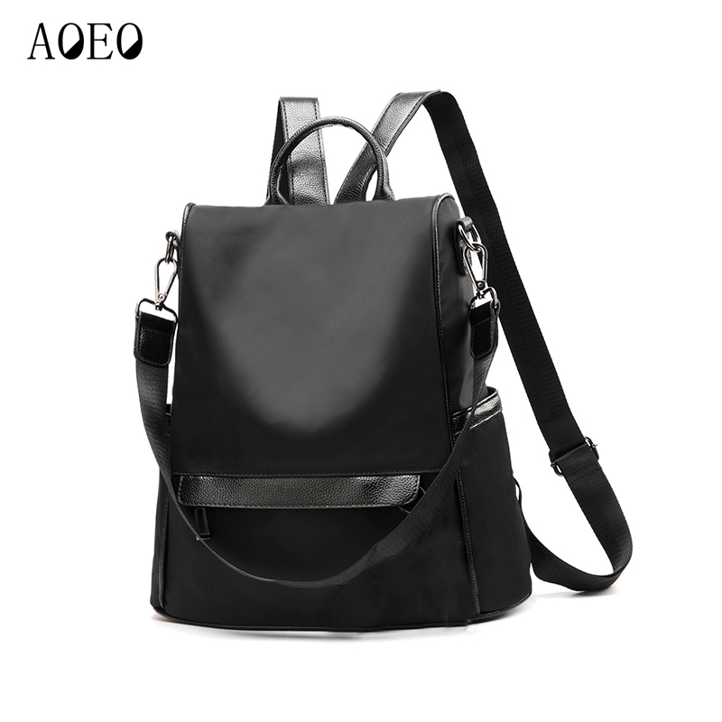 Aoeo Anti-theft Women Backpack Waterproof Bags Classic Female New Girls Oxford Korean Fashion Casual Ladies Backpack