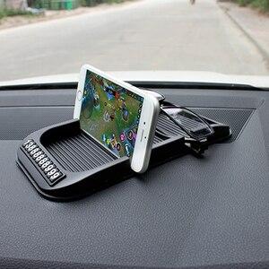 Image 2 - Противоскользящий коврик для приборной панели автомобиля с номером мобильного телефона, силикагелевый автомобильный нескользящий коврик для бумажных полотенец, GPS телефона, автомобильные аксессуары