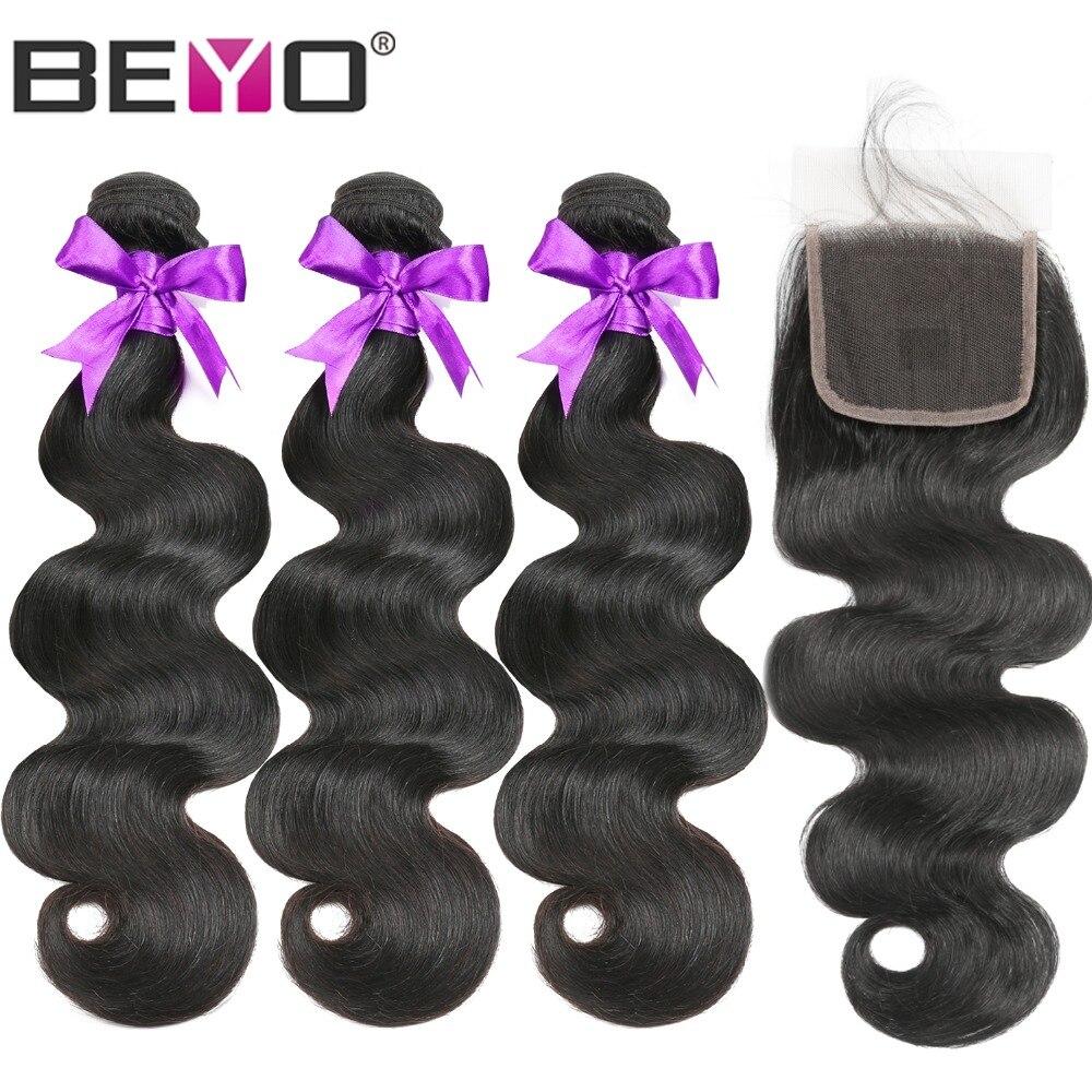 Body Wave Bundles With Closure Brazilian Hair Weave Bundles With Closure Non Remy Human Hair Bundles