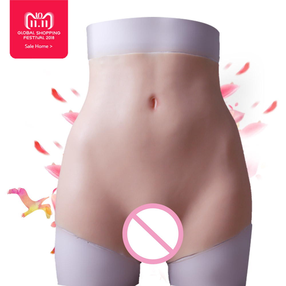 Nouvelle augmentation hanches boxeur Silicone vagin pour crossdresser Faux Cul Fesses enhancer Shaper Hip Up pour femme chatte sous-vêtements