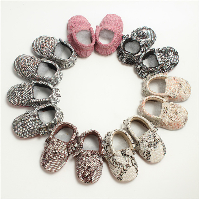 Fashion Spring and Autumn Leather Snake Baby Toddler Soft Bottom Shoes Cool Room Mainland Kid's Shoes