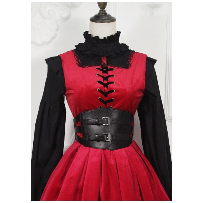 Women's Ultra Wide Belt Steampunk Punk Hollow Out Waist Cincher With Buckles