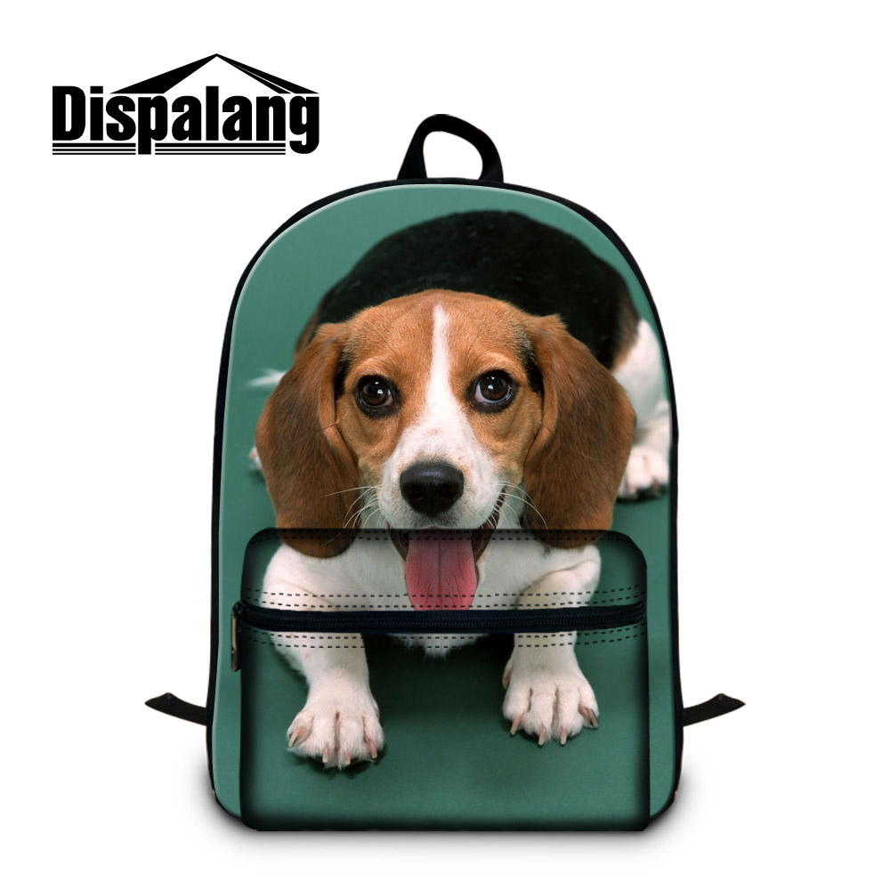 Dispalang large 3D animal women laptop backpack cute dog printing ladies shoulder bags cool design school book bags for students forudesigns casual backpack for women men large cute animal cat dog printing college student school backpack laptop bags mochila