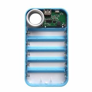 Image 4 - 1Pc Diy Usb Mobiele Power Bank Lader Case Pack 5*18650 Batterij Houder Voor Telefoon