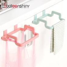 BalleenShiny Hanging Garbage Bag Storage Rack Kitchen Organizer Towel Rag Holder Cupboard Cabinet Storage Waste Bins Hanger