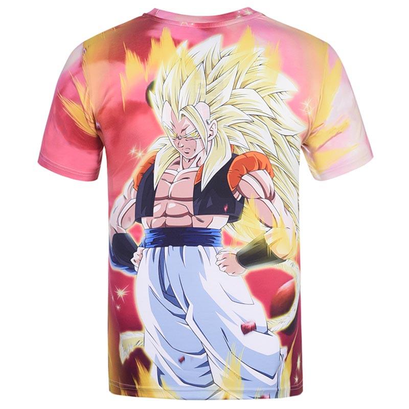 2017 New Japanese Anime T-shirts Women Men Dragon Ball Z Saiyan Tee Shirt BoyGirl Cartoon 3D Print T shirt Summer Tops Tees (24)