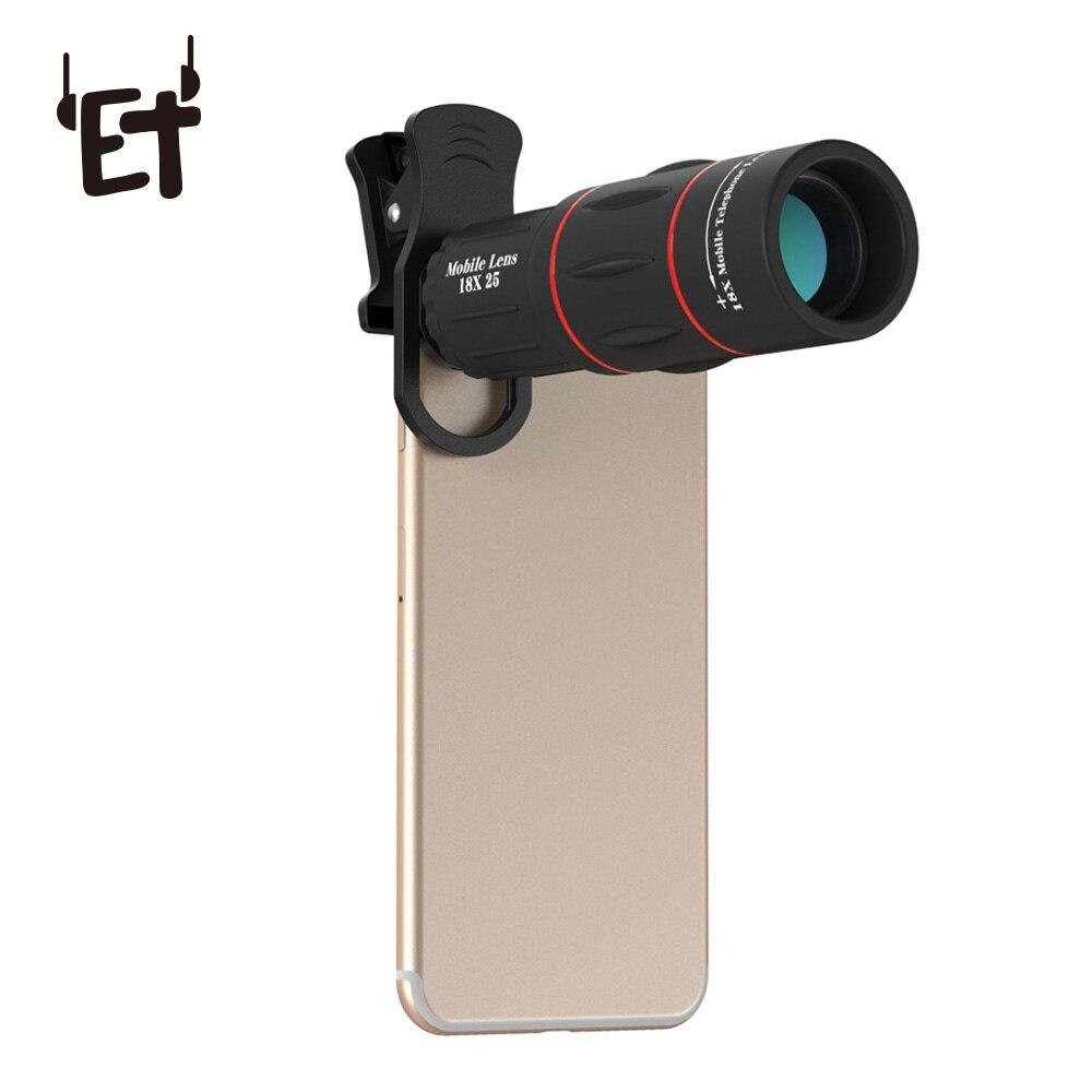 18x25 Mobile Phone Lensmonocula Telescope Zoom For Iphone Samsung Xiaomi Smartphones Clip Telefon 18x Cell Phone Camera Lens
