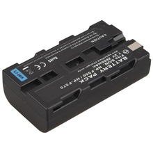 1Pcs 7.2V 2600mah Rechargeable Digital Camera Battery Pack For Sony NP-F550 NP-F570  Batteria