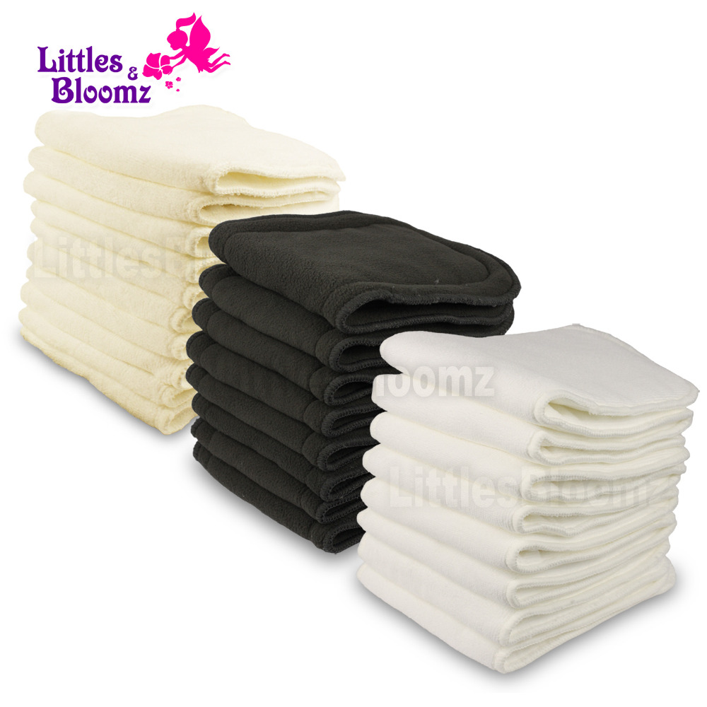 Reusable Washable Inserts Boosters Liners For Real Pocket Cloth Nappy Diaper Cover Wrap Insert microfibre bamboo charcoal insert(China)