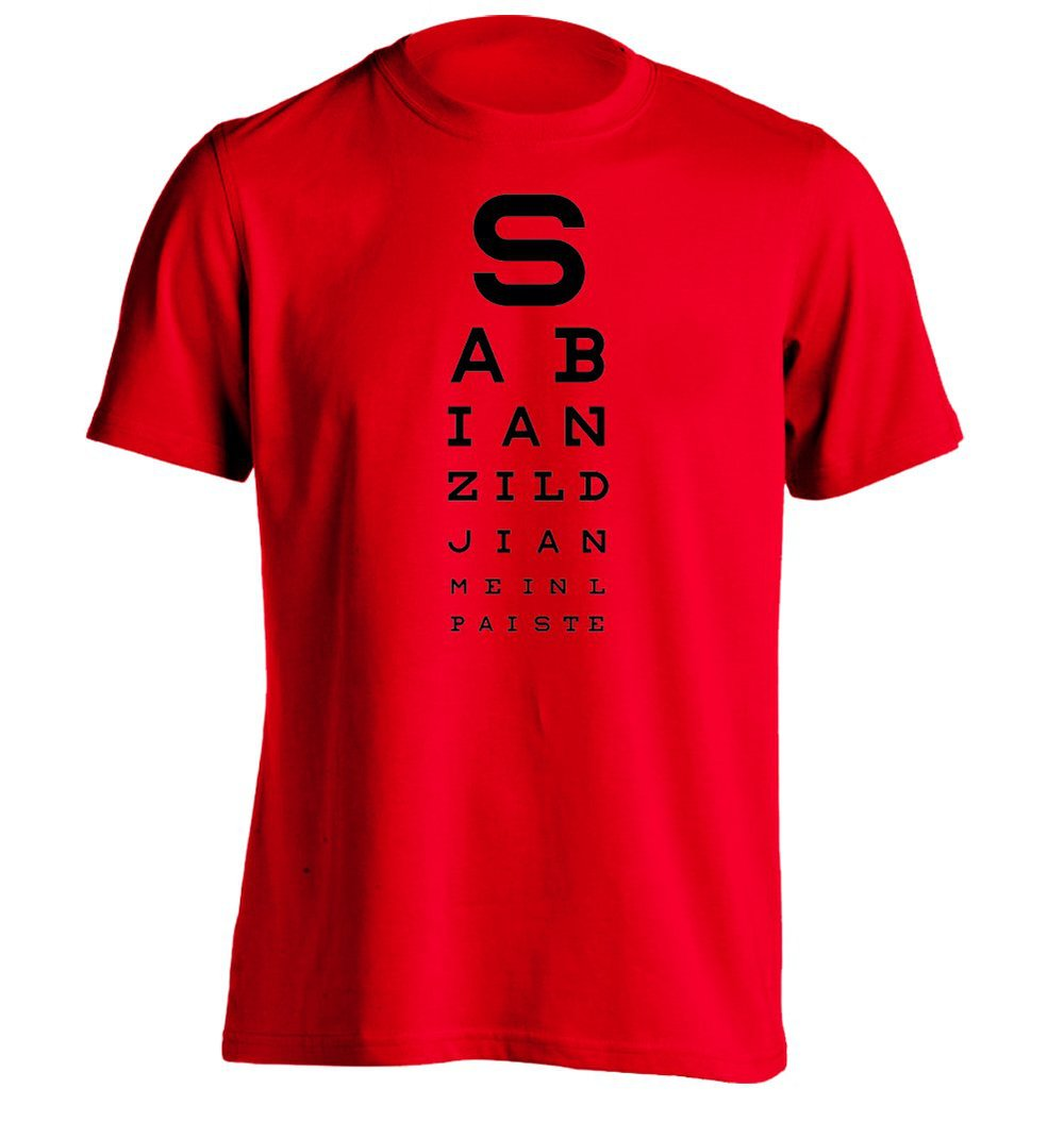 Drummers Eye Test Mens Personalized Custom T Shirt ...