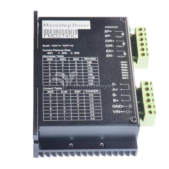 FMD2740C CNC Motorista 50 V/4A/128 microstep Driver de Motor de Passo Híbrido Controlador