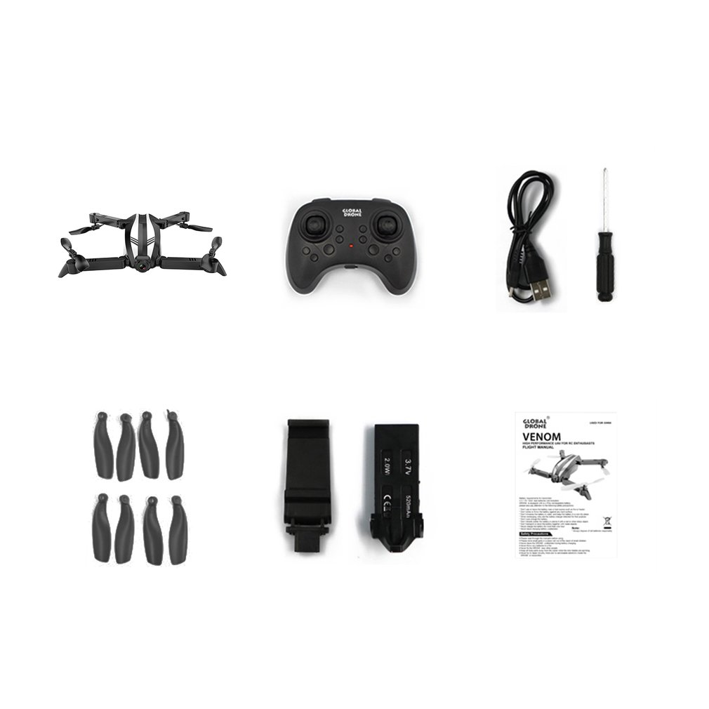 Global Drone GW68 RC Drone Folding Mini Drone Altitude Hold Aerial Photography Wide Angle 720P Camera Mini RC Drones in RC Helicopters from Toys Hobbies