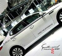 XYIVYG 1 Set Auto Giro Vita Dell'automobile Del Vinile Adesivi E Decalcomanie Per Auto Completo Del Corpo A Bordo Stripes Decalcomanie per KIA