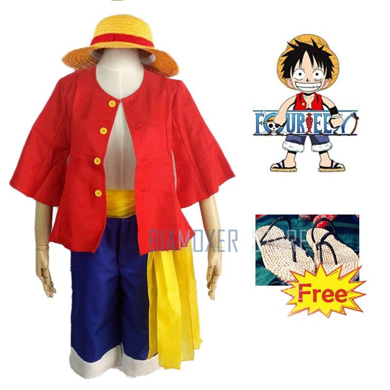 One Piece Monkey D Luffy Cosplay Shoes straw sandals zori Waraji Sandals /& Flip