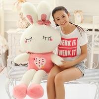Valentine's Day Lovely Scarf Rabbit Dolls Plush Toys Giant Stuffed Animal Soft Bunny Kids Toys Kawaii Girl Birthday Gift F067