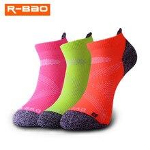 R-bao мужские и женские Компрессионные носки для бега профессиональные спортивные носки для верховой езды баскетбол бадминтон Пешие гонки Дышащие носки