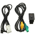 2015 New Aux in Switch & USB Wire Cable Adapter For BMW 3 5 series E87 E90 E91 E92 X5 X6