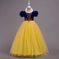 2018 New Snow Queen Elsa Dresses Elza Costume Princess Anna Elsa Dress for Girls Dresses Vestidos Children Cosplay party Clothes