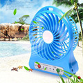 Portable Fan Electric Fans LED Mini Rechargeable Desktop USB Fan Cooling Air Conditioner Portable Fan With 18650 Battery