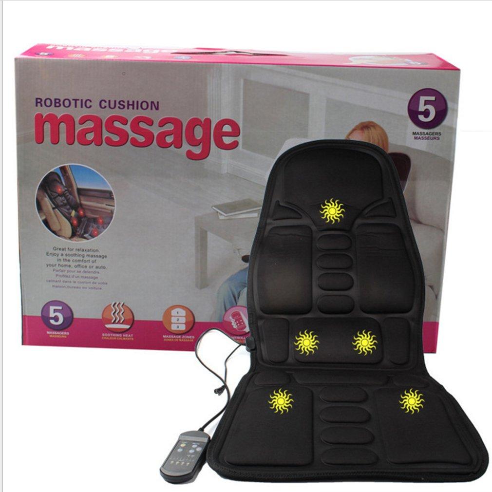 Massage Mattress Full Body Heated Massager Mat Remote Control Cushion Foldable health care