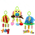 baby early educational toys Baby Rattle Ring Bell Baby plush lathe hanging Musical Baby toy for bed Stroller car Plush Fabric