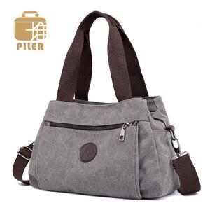 Image 1 - Çanta kadın çantası kanvas çanta kadınlar için 2019 büyük Tote bayan çanta bayan tasarımcı omuz askılı postacı çantaları kadın Crossbody çanta